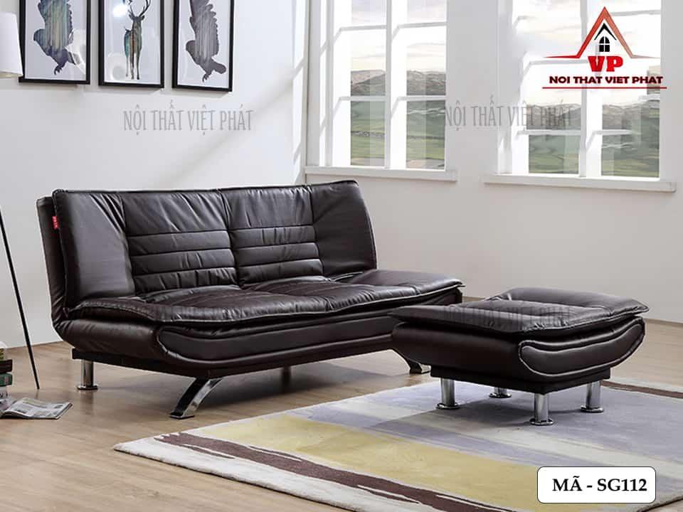 Ghế Sofa Bed Bọc Da - Mã SG112